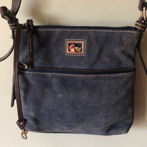 Dooney & Bourke blue velour cross body bag